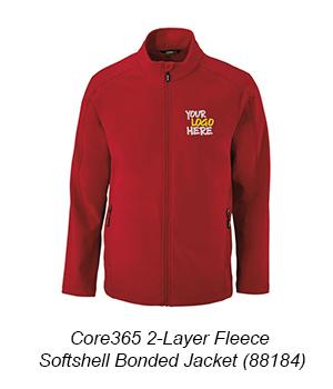 Core365 2-Layer Fleece Softshell Bonded Jacket